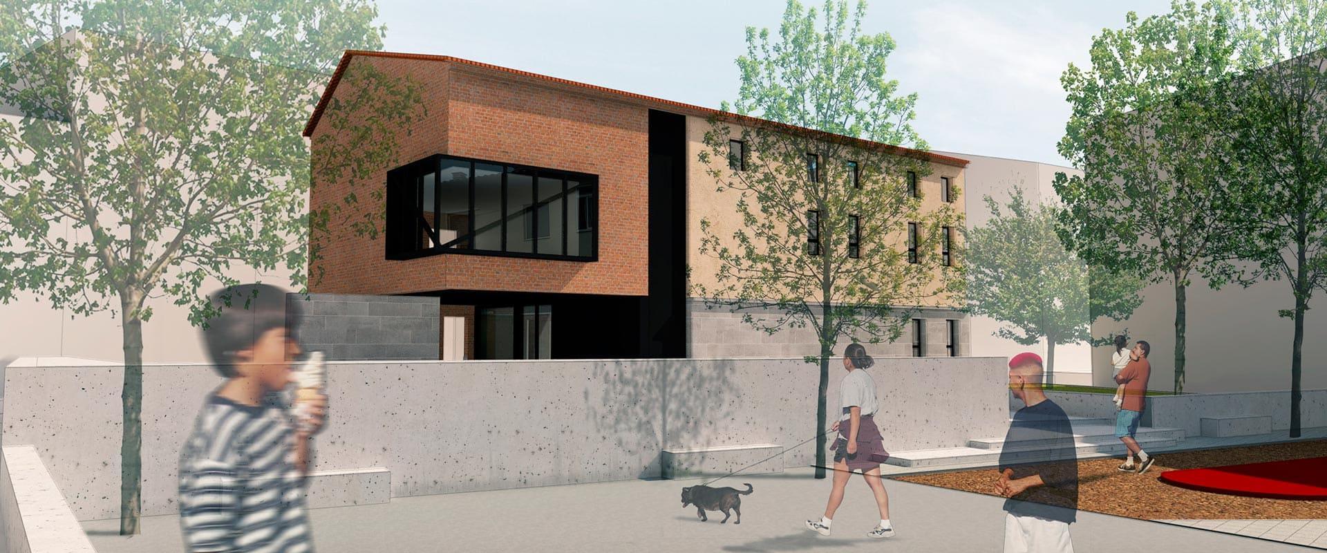 diseño y arquitectura de Edificio multiusos monzon