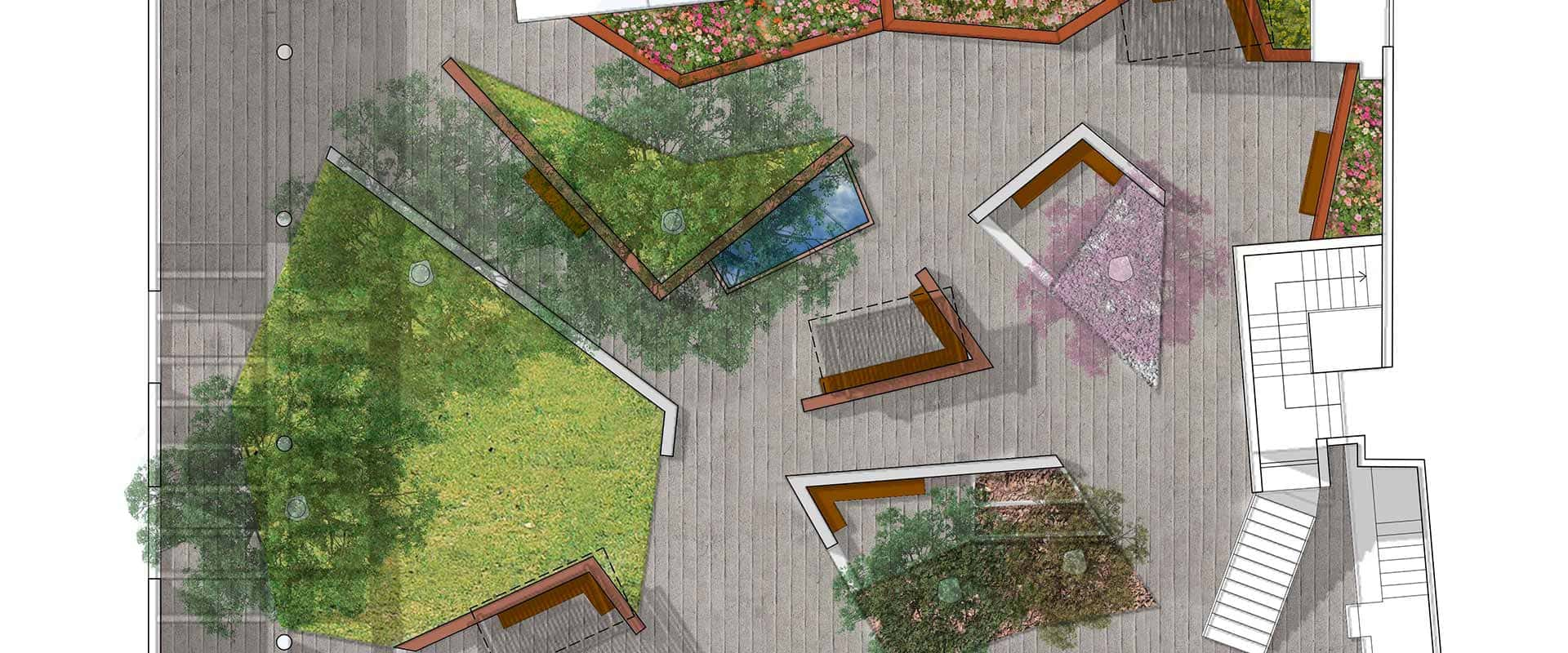 arquitectura jardin ancianos monzon