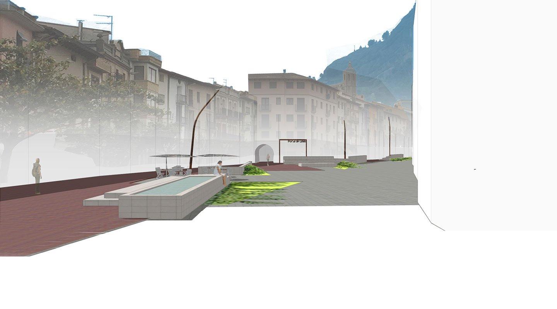 reurbanizacion calle barranco en monzon